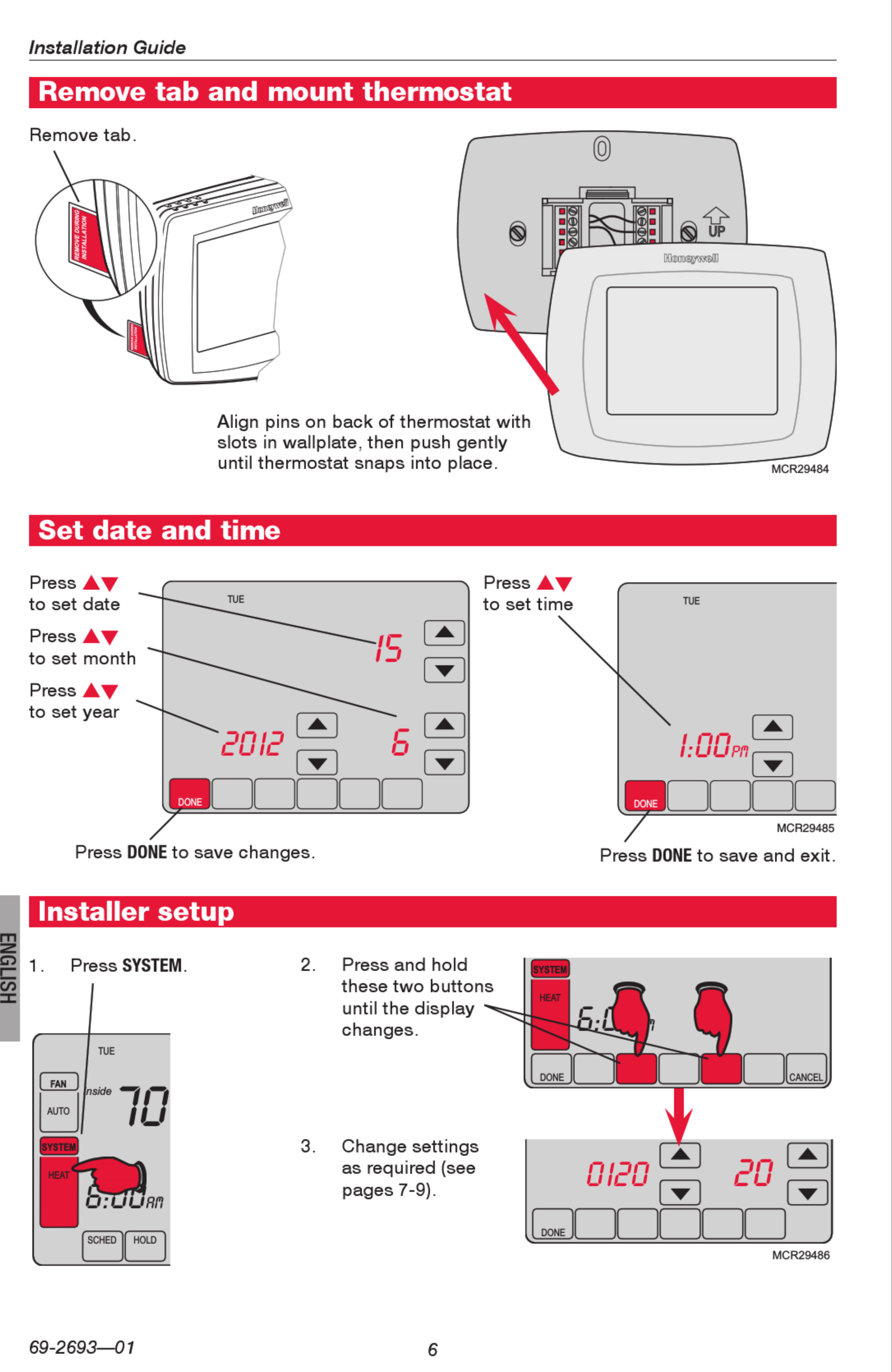 Honeywell Utility Pro Thermostat Wiring Diagram from wiringall.com