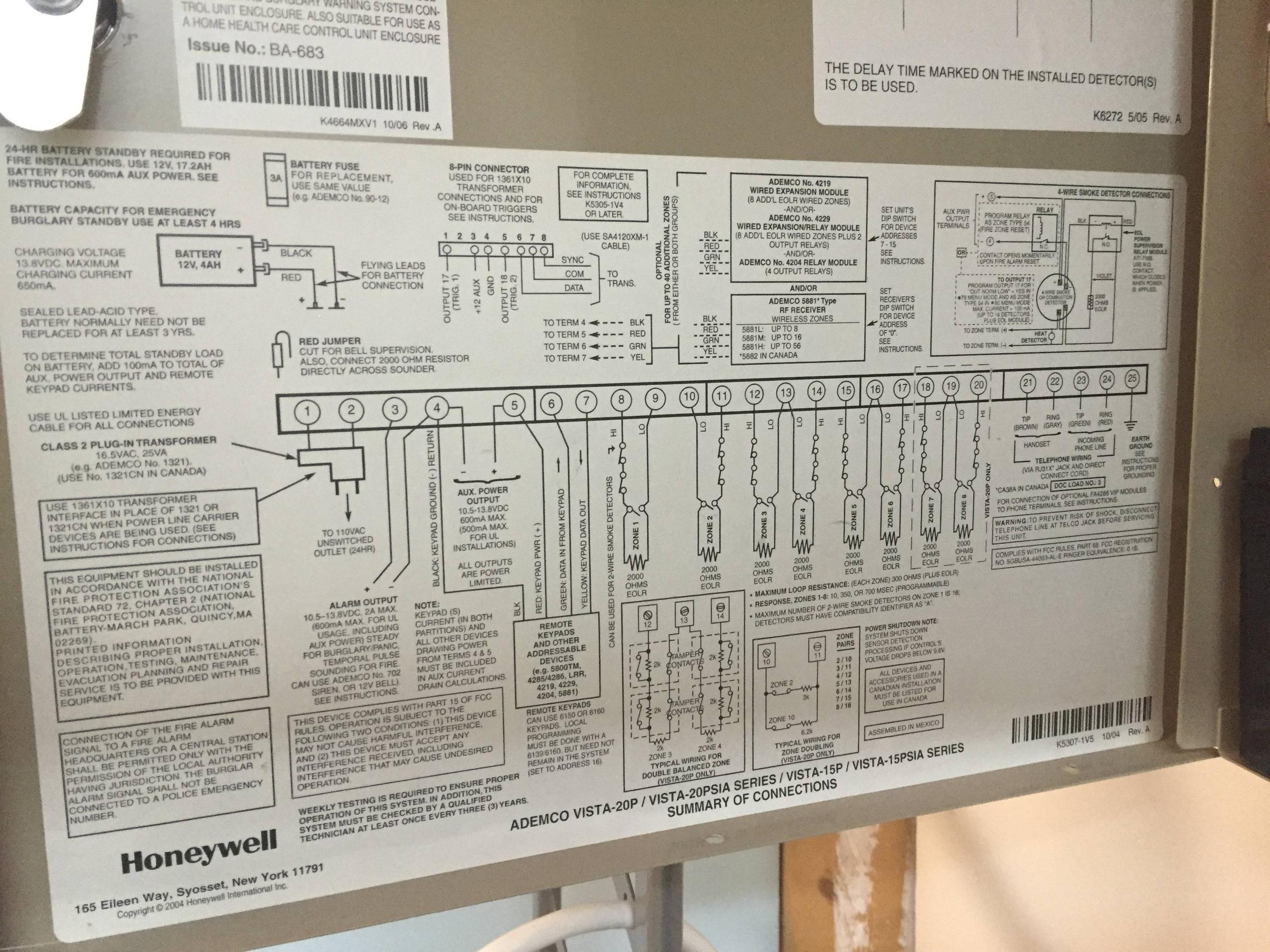 Vista 20p Wiring Diagram Wiring Diagrams Dat
