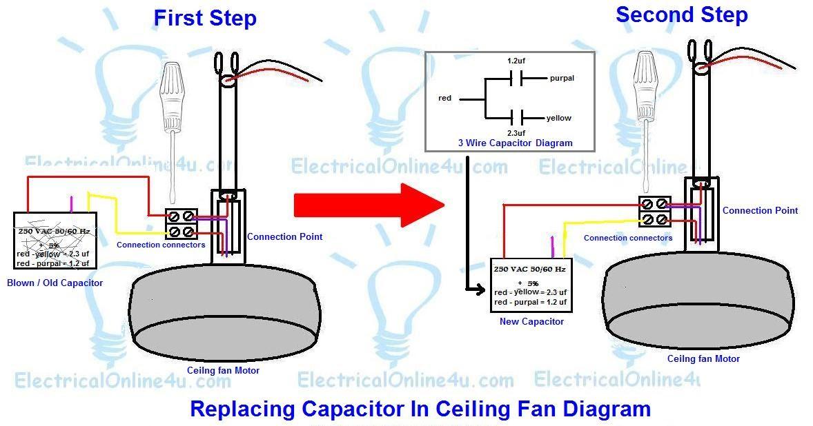 ceiling fan motor capacitor wiring diagram  acura tl