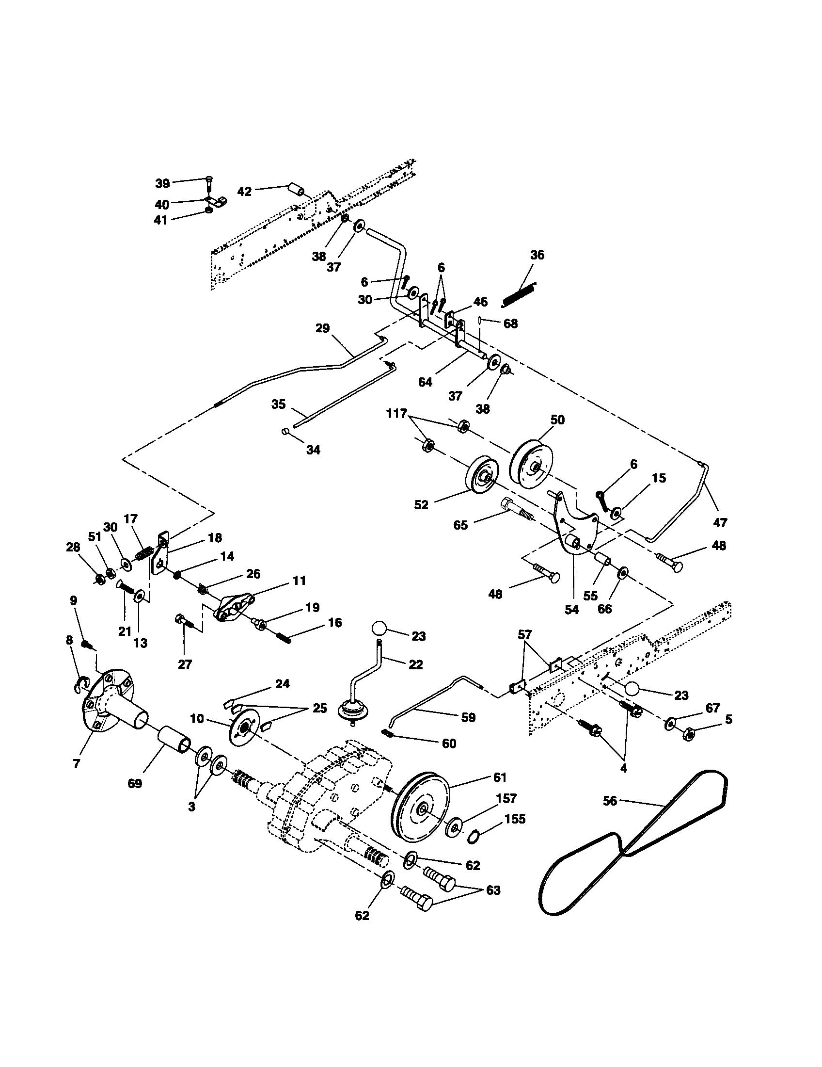 Husqvarna Lgt2654 Deck Belt Diagram