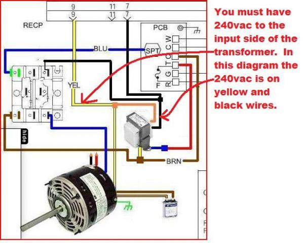 Hvac Blower Motor Rescue 120v 1  2 Hp Wiring Diagram