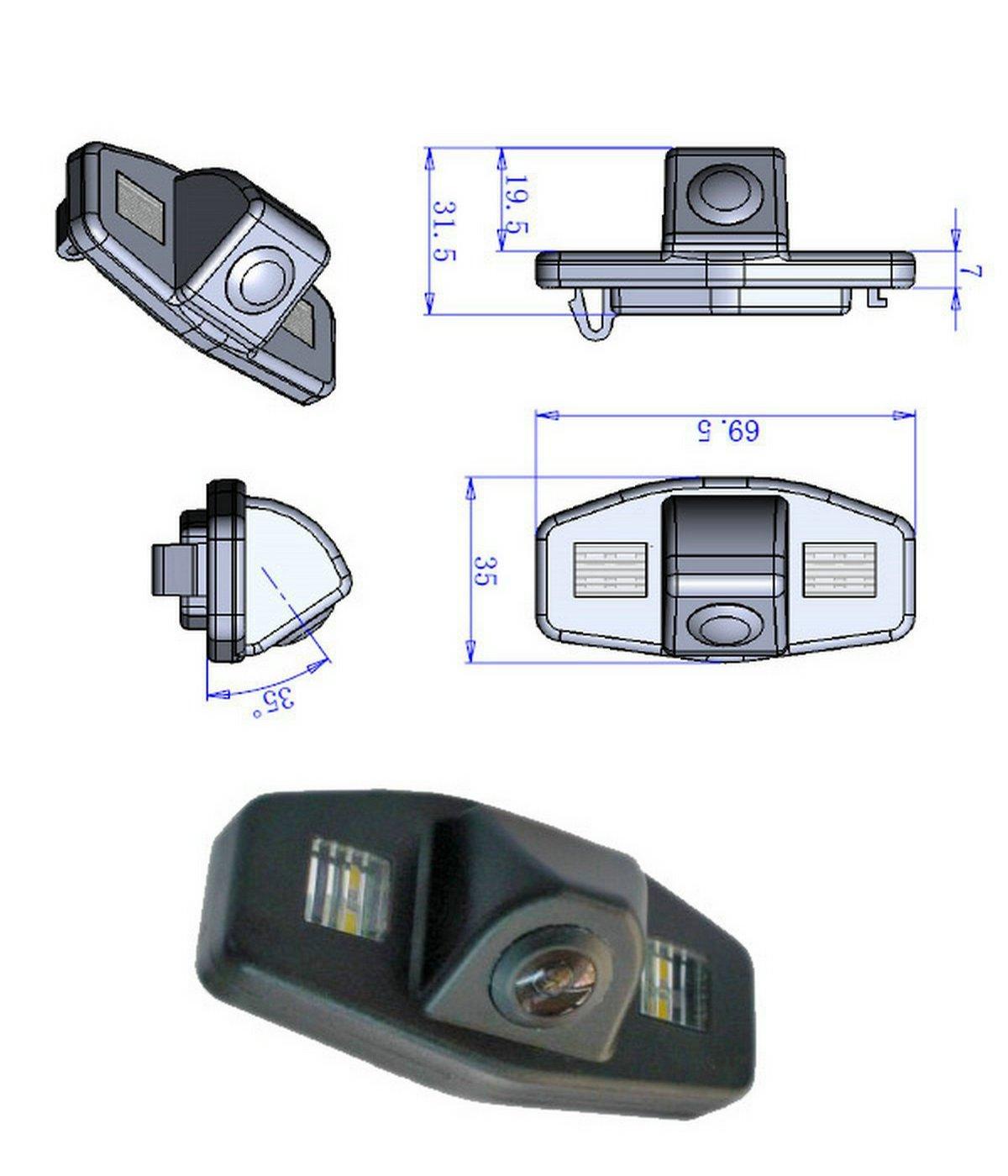 Incosky Ir Color Cmos Camera Wiring Diagram