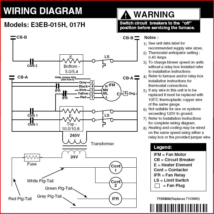 Intertherm E2eb Cooling Fan Relay Wiring Diagram