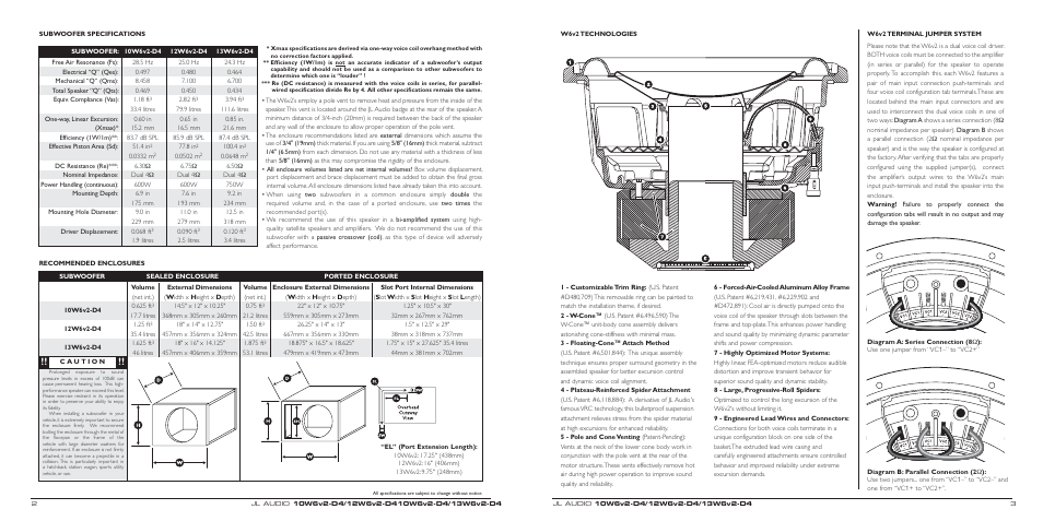 Jl Audio W6 Wiring Diagram