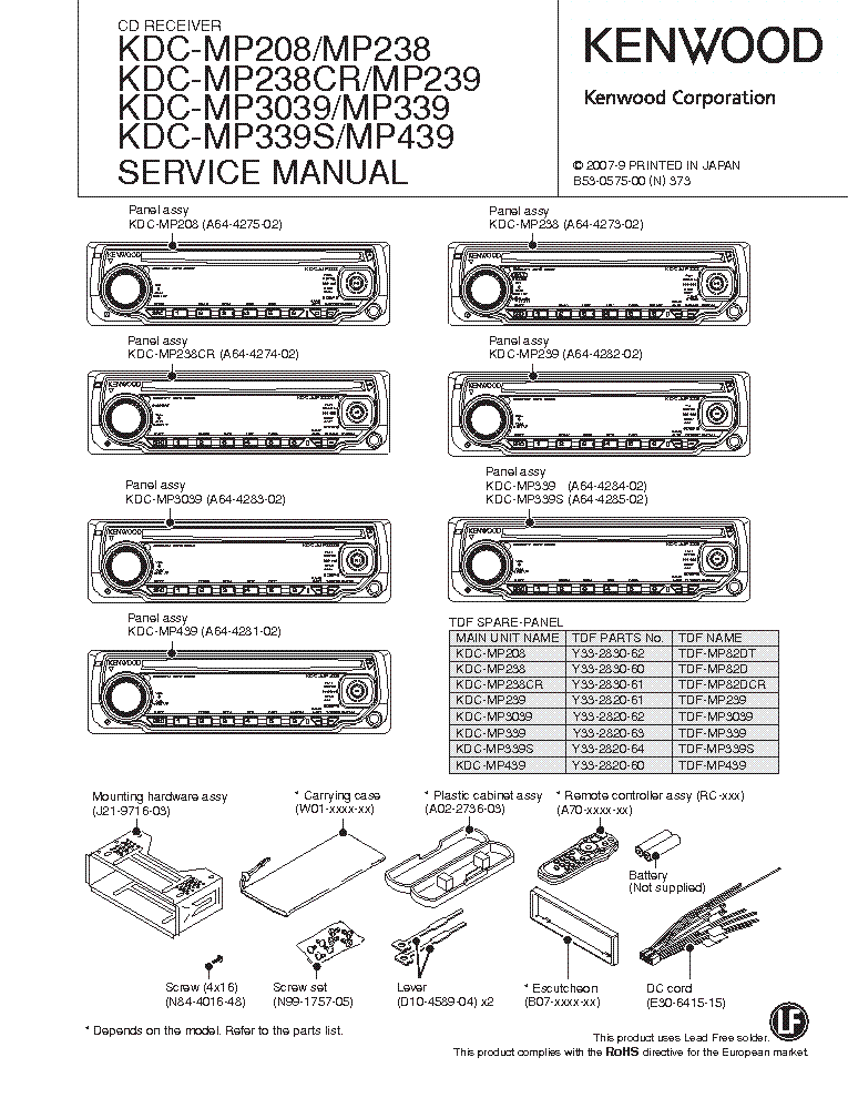 🏆 diagram in pictures database kenwood model kdc x493