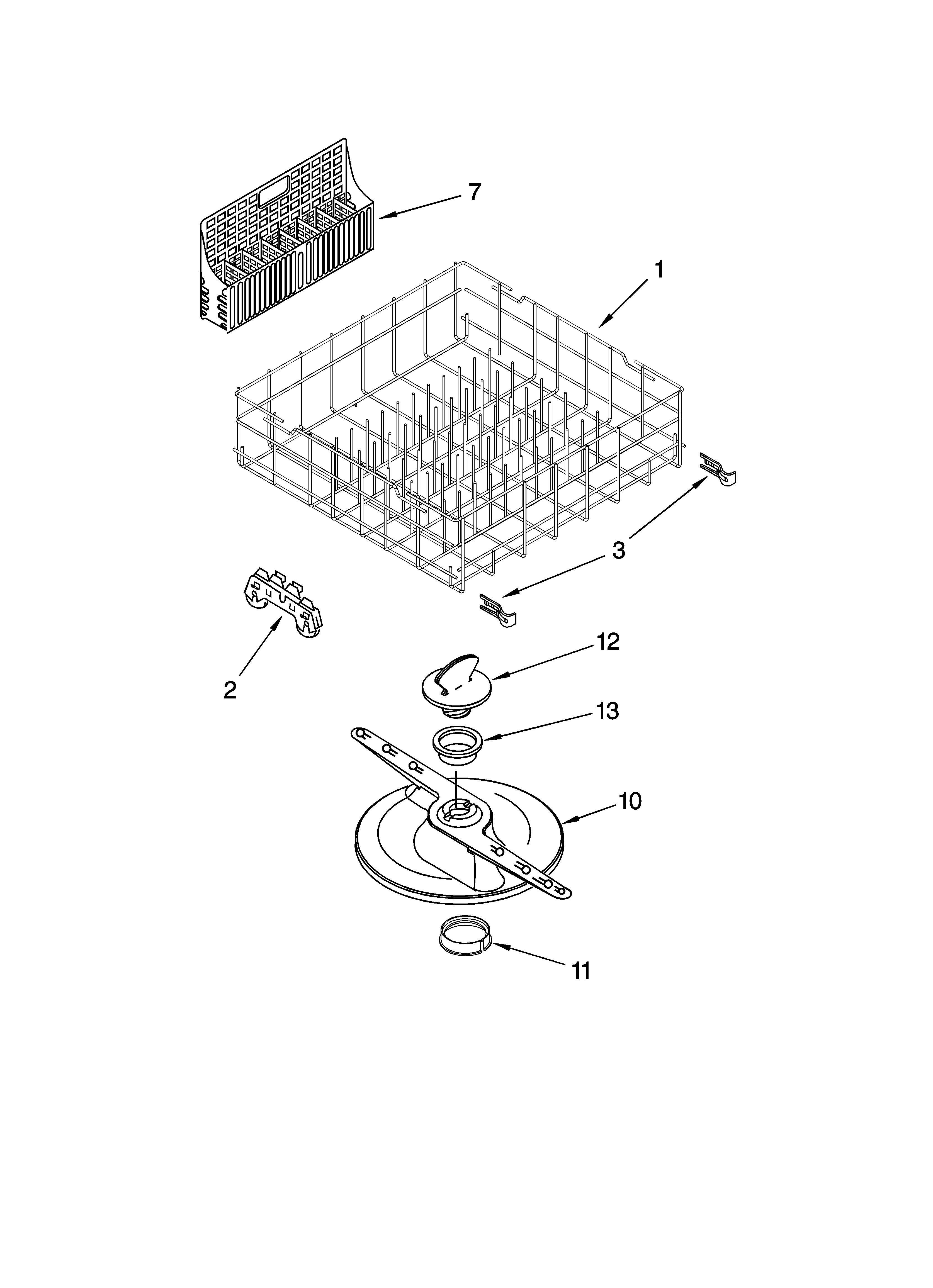 Kenmore Dishwasher Model 665 Parts Diagram