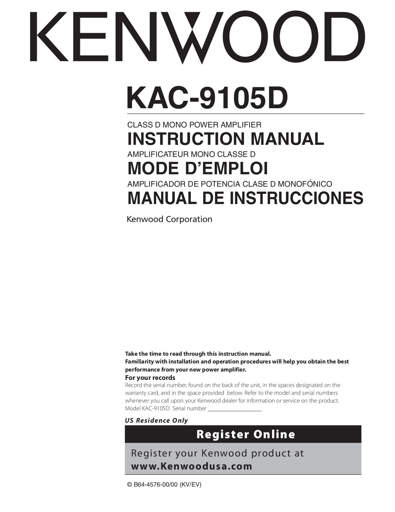 Kenwood 9106d Wiring Diagram