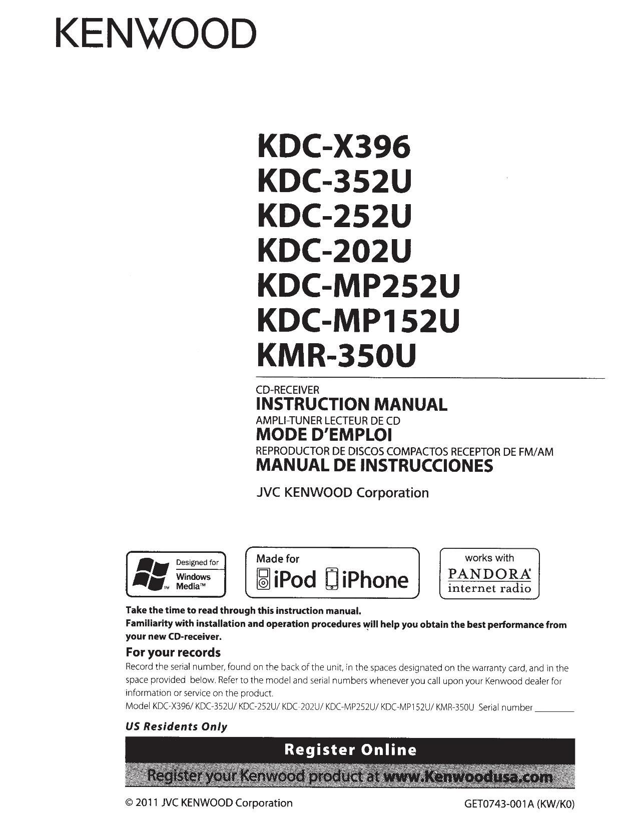 Kenwood Kdc Mp342U Wiring Diagram from wiringall.com