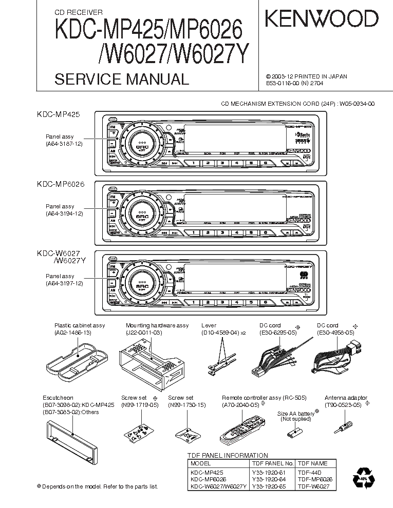 diagram kenwood model kdc mp4028 wiring diagram full
