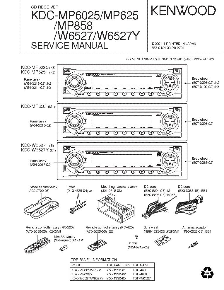 Kenwood Kdc Mp4028 Wiring Diagram