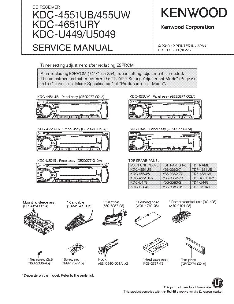 Kenwood Kdc X597 Wiring Diagram
