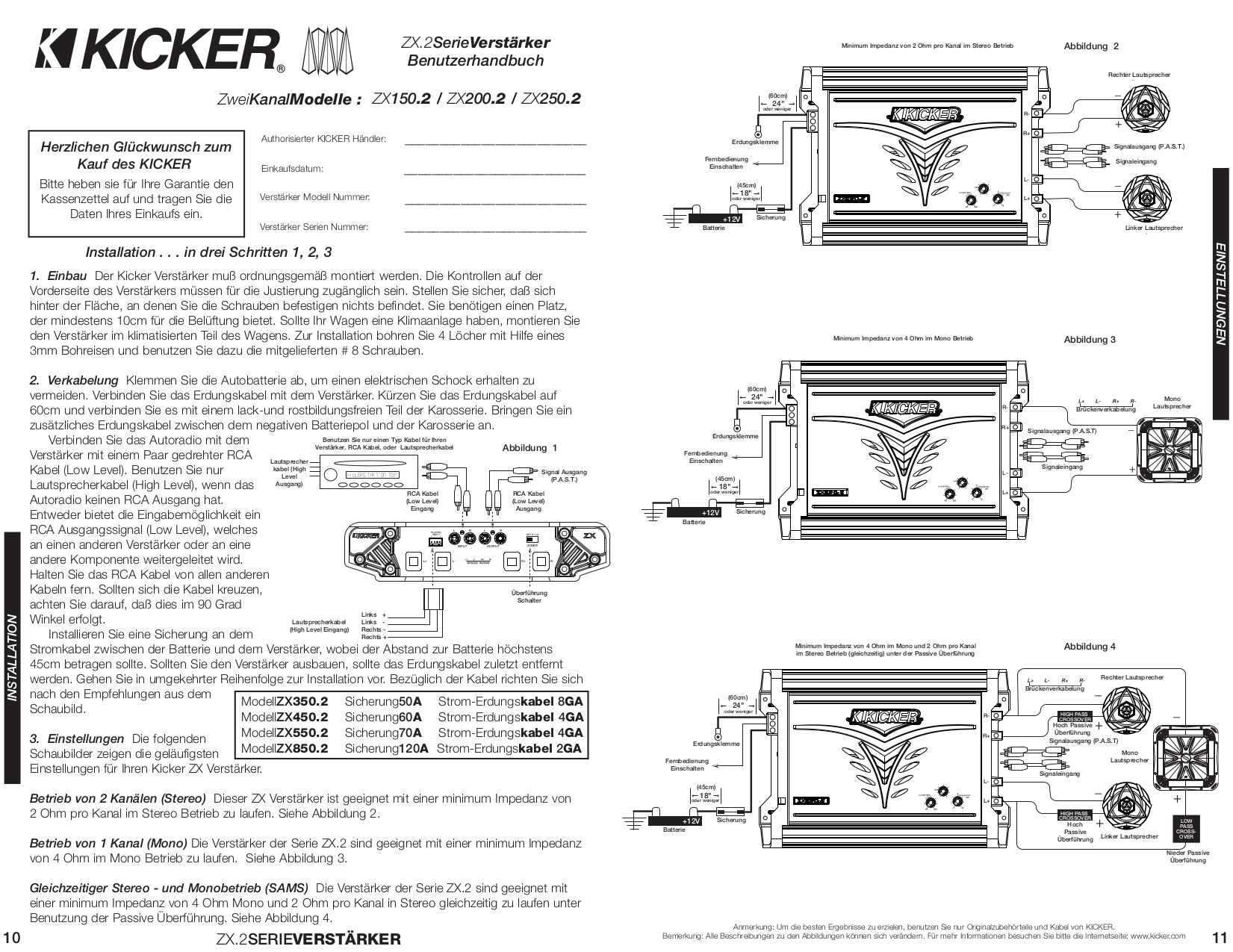 Kicker Pxa300 4 Wiring Diagram