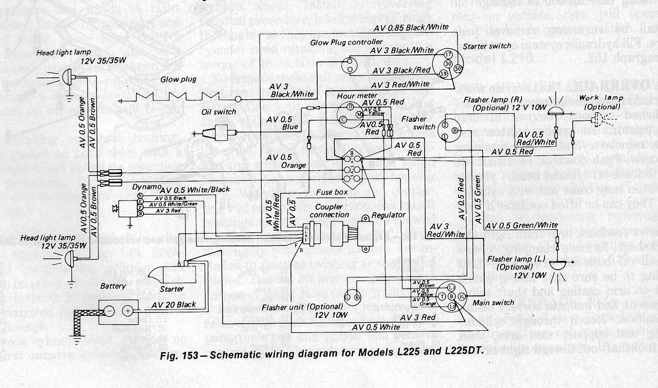 kubota tractor l 4330 diesel ignition switch wiring diagram