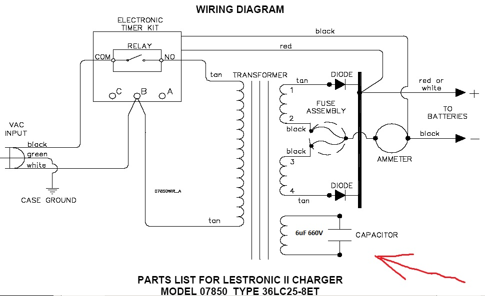 lestronic 2 36 volt charger wiring diagram. Black Bedroom Furniture Sets. Home Design Ideas