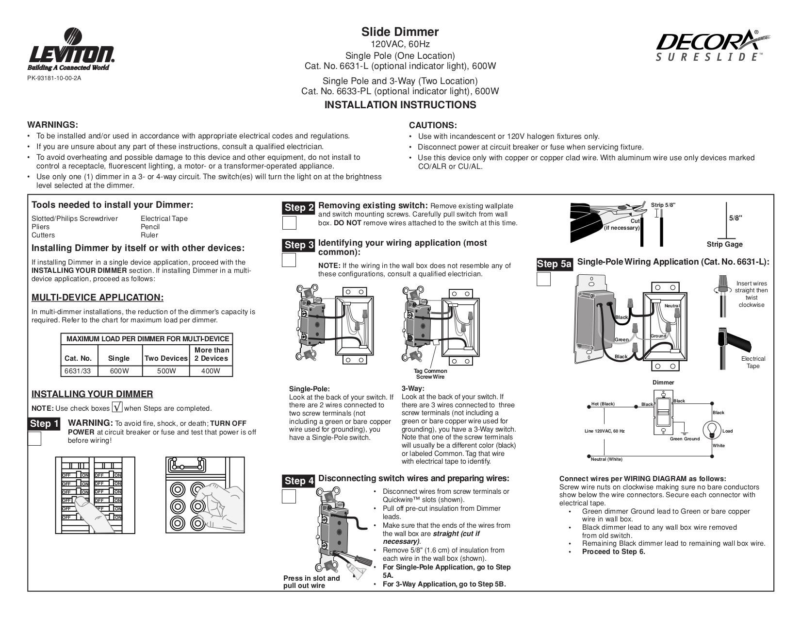 Leviton 279 Wiring Diagram