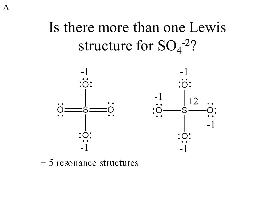 Lewis Dot Diagram For So4 2
