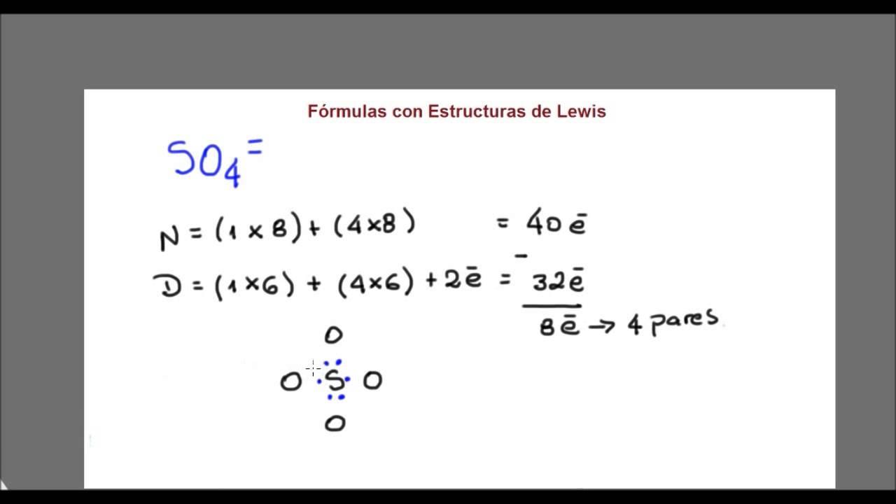 Lewis Dot Diagram For So4 2