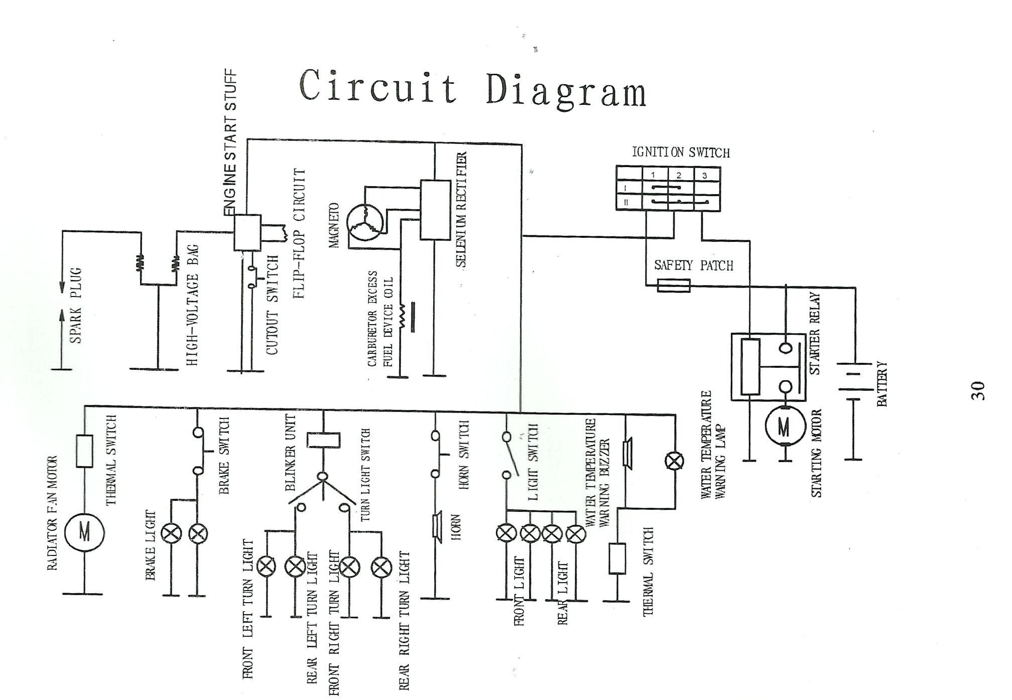 lifan 110 electric start wiring diagram