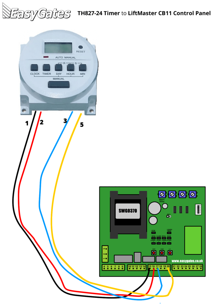 Liftmaster 2000sdr Wiring Diagram