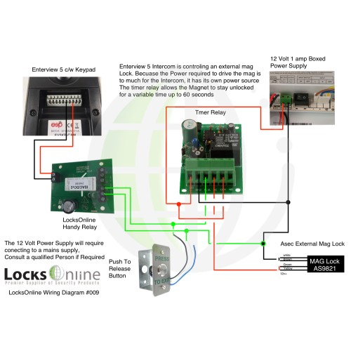 Maglock Wiring Diagram With Break Glass