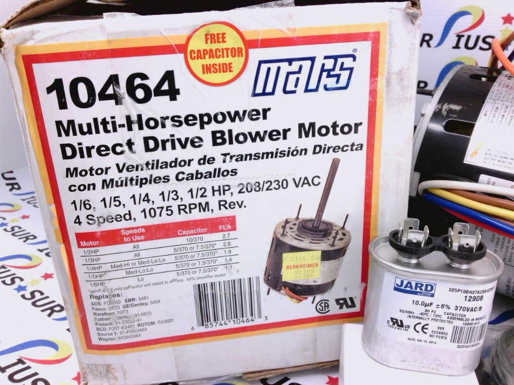 Mars Direct Drive Blower Motor 10586 Wiring Diagram