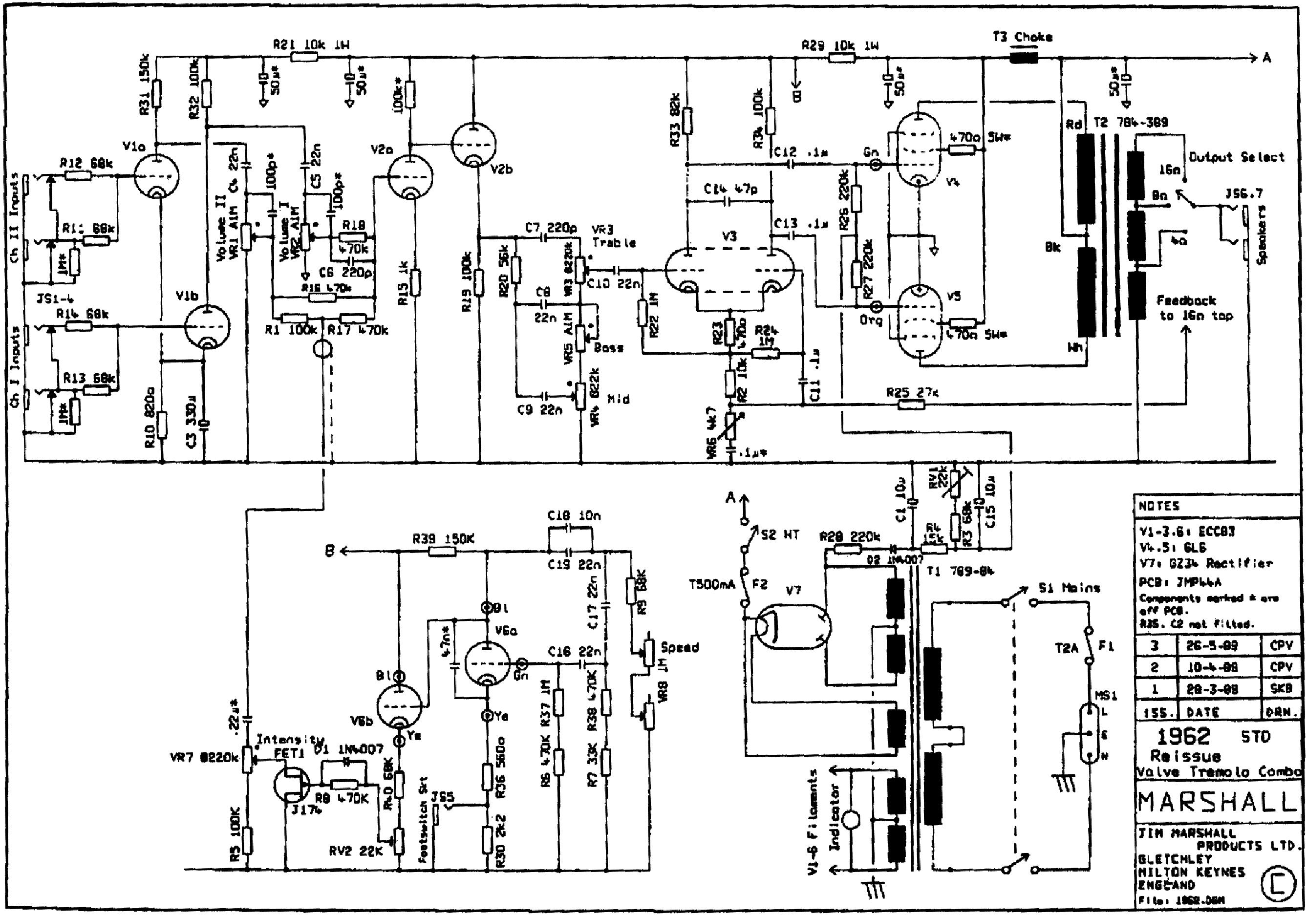 Diagram Download  Circuit Diagram Marshall Amplifier Hd