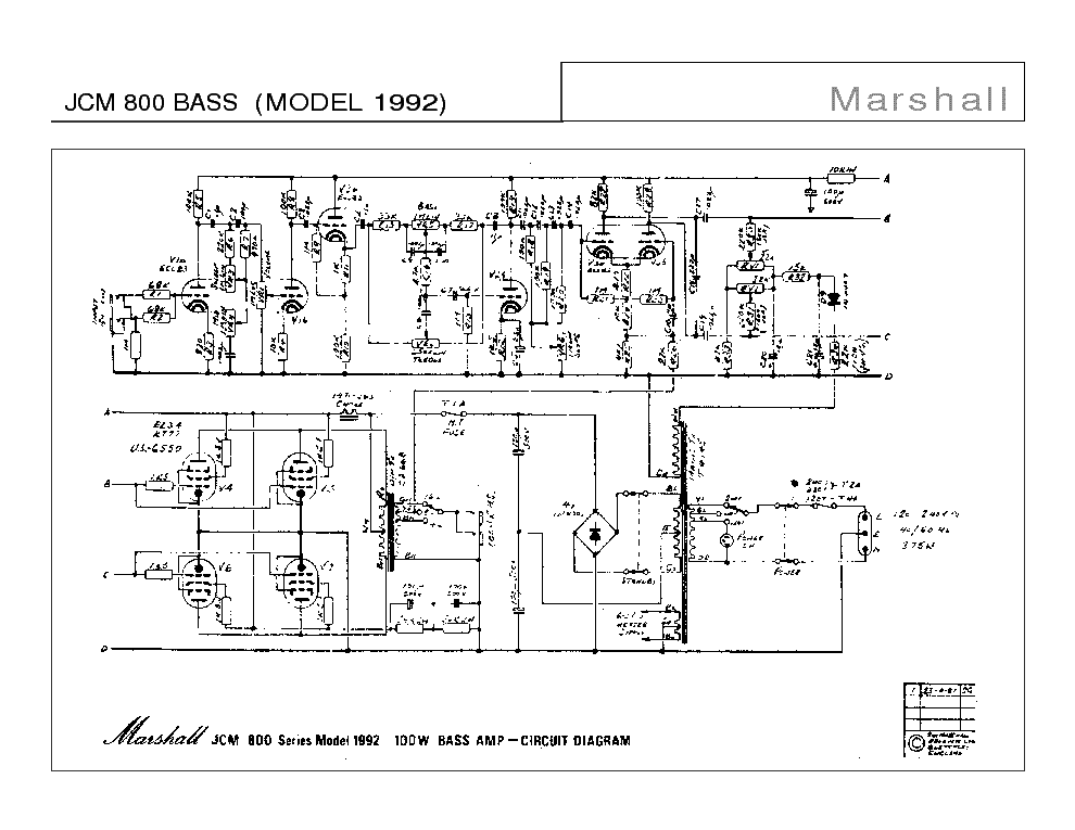 Marshall Mg50dfx Wiring Diagram