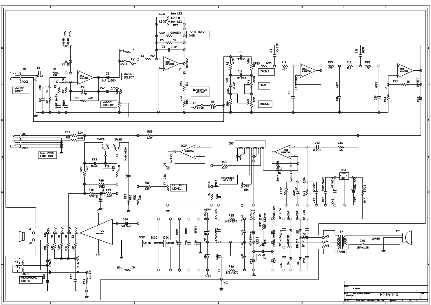 Marshall Mg50dfx Wiring Diagram