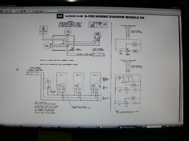 Modine Heater Thermostat Wiring Diagram