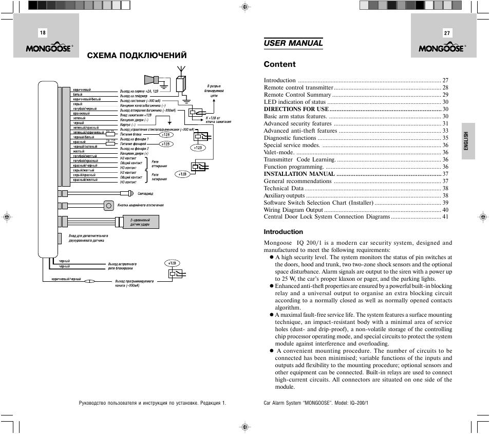 Mongoose Alarm Wiring Diagram
