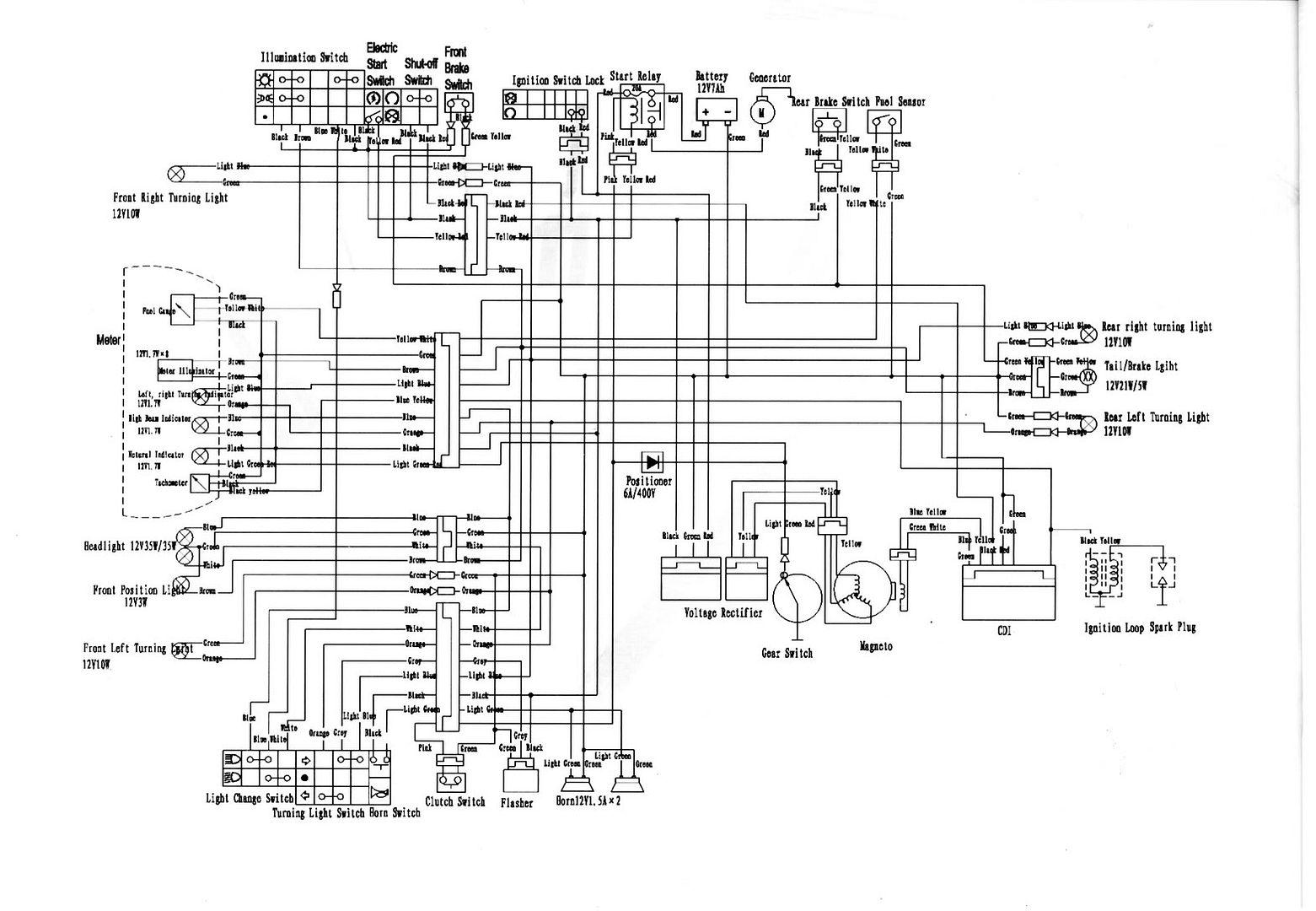 Motorstar 125 Wiring Diagram