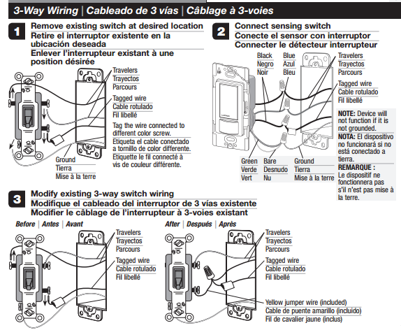 How To Wire A Three Way Switch To A Existing Single Pole Manual Guide