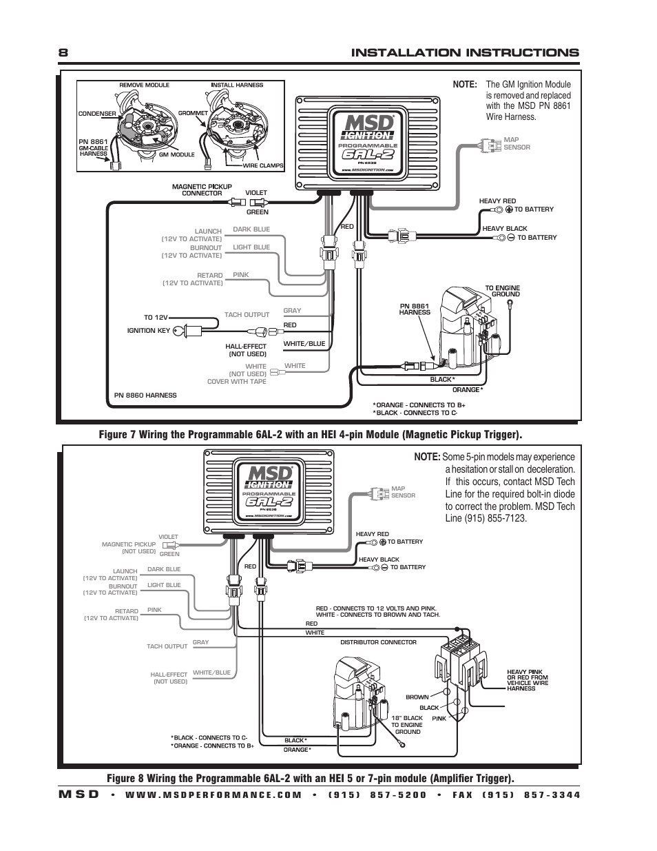 msd 6al wiring diagram hei. Black Bedroom Furniture Sets. Home Design Ideas