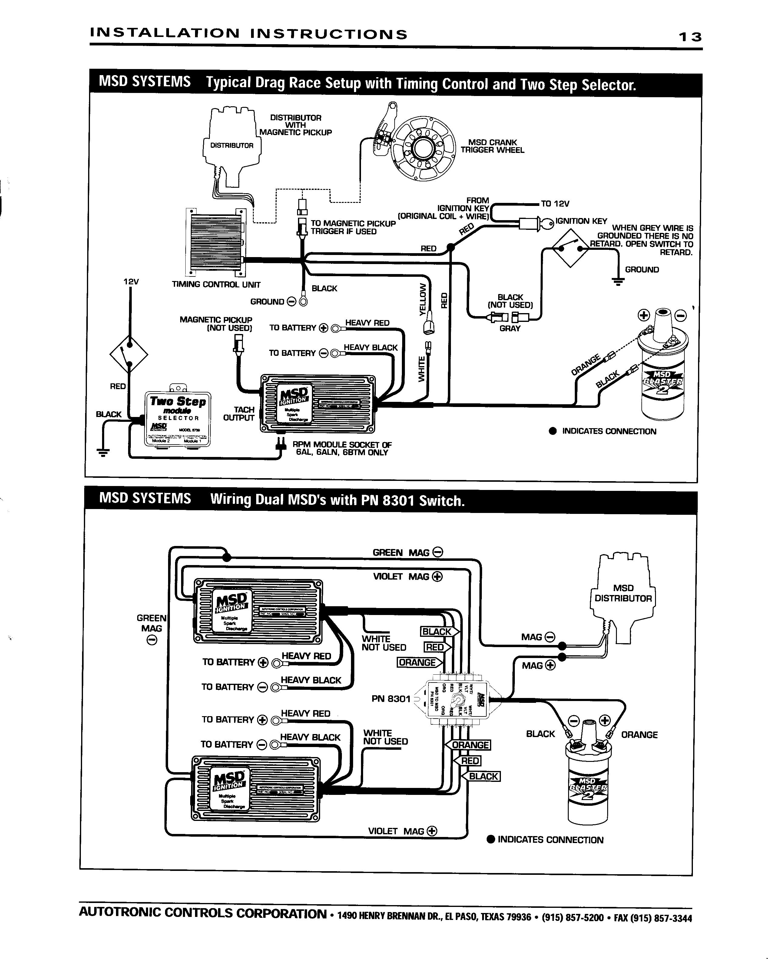 Msd 6Al Wiring Diagram Hei Distributor from wiringall.com