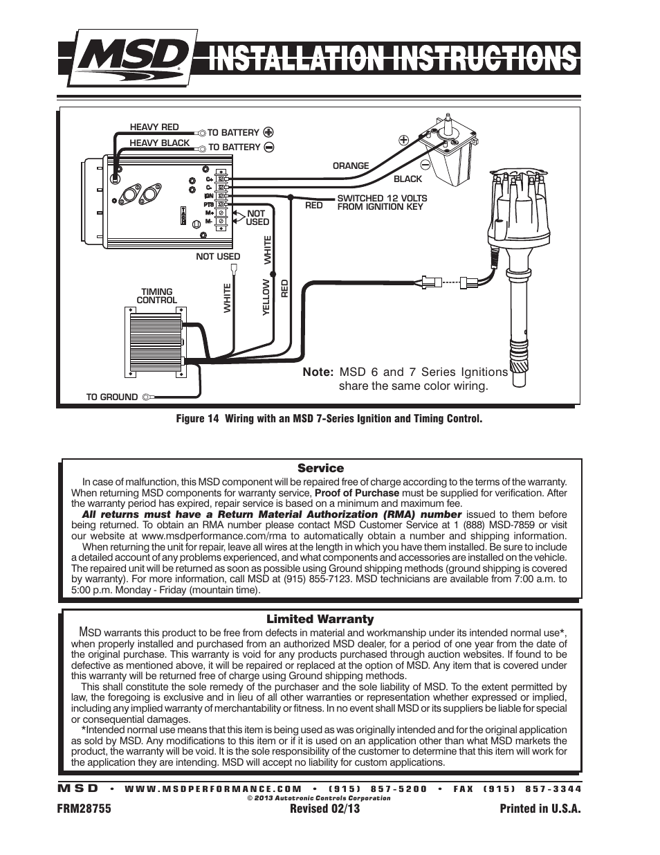 Msd Pro Billet Wiring Diagram