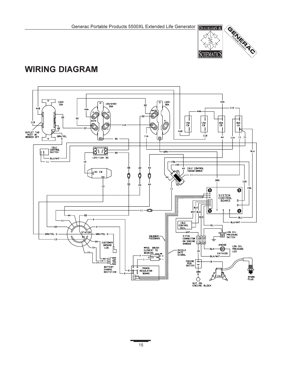 Need Wiring Diagram For Generac Gp7000e Portable Generator