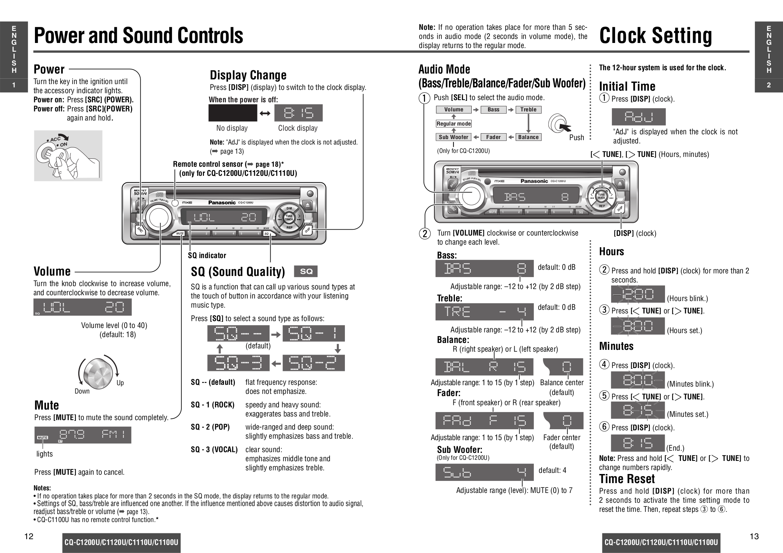 Panasonic Cq Cp134u Wiring Diagram
