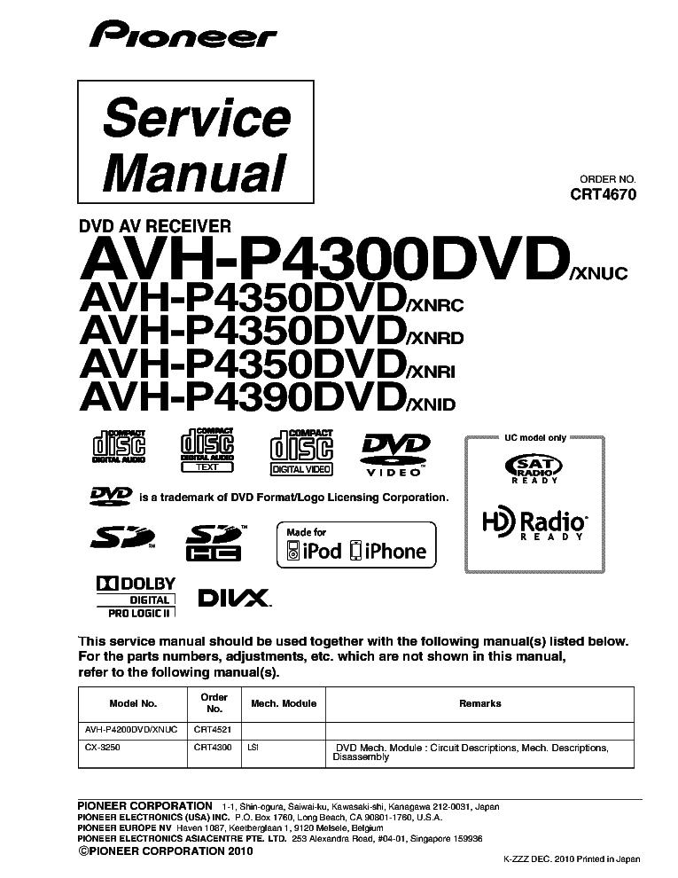wiring diagram for pioneer avh p4300dvd  wiring diagram for