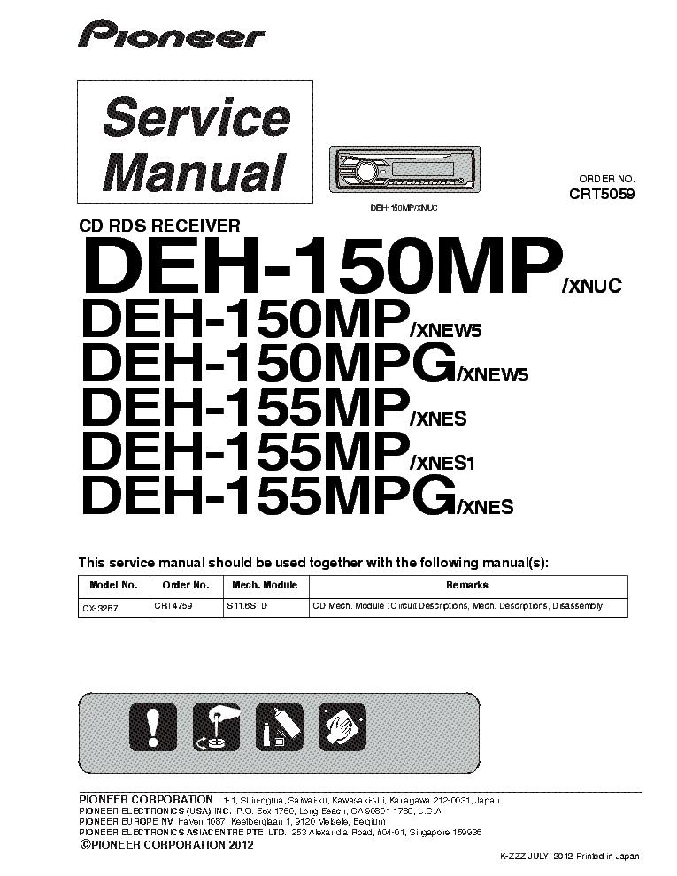 Pioneer Deh 3200ub Wiring Diagram