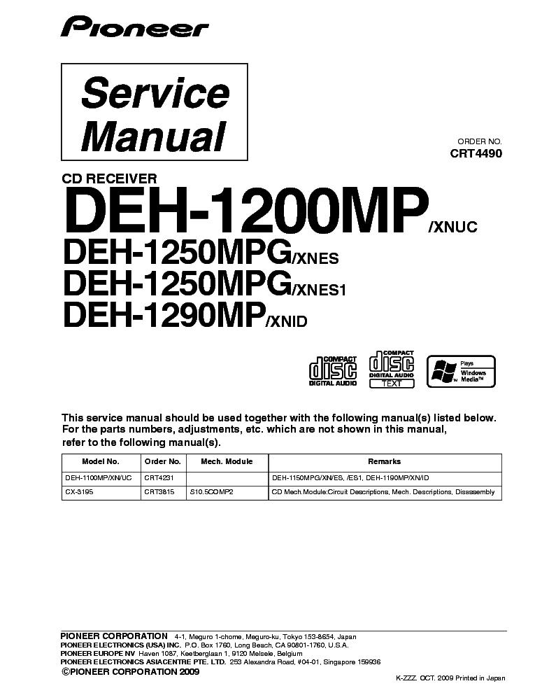 Pioneer Deh-P4800Mp Wiring Diagram from wiringall.com