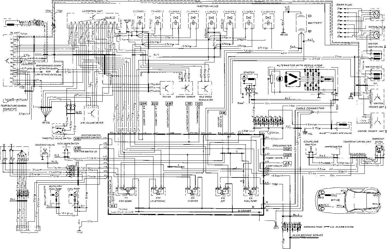 Porsche 928 Wiring Diagram A B C