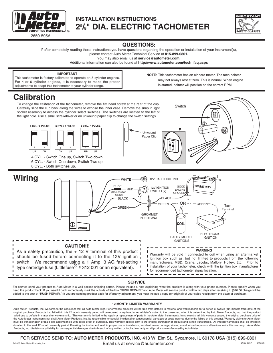 Sun Pro Tach Wiring Diagram from wiringall.com