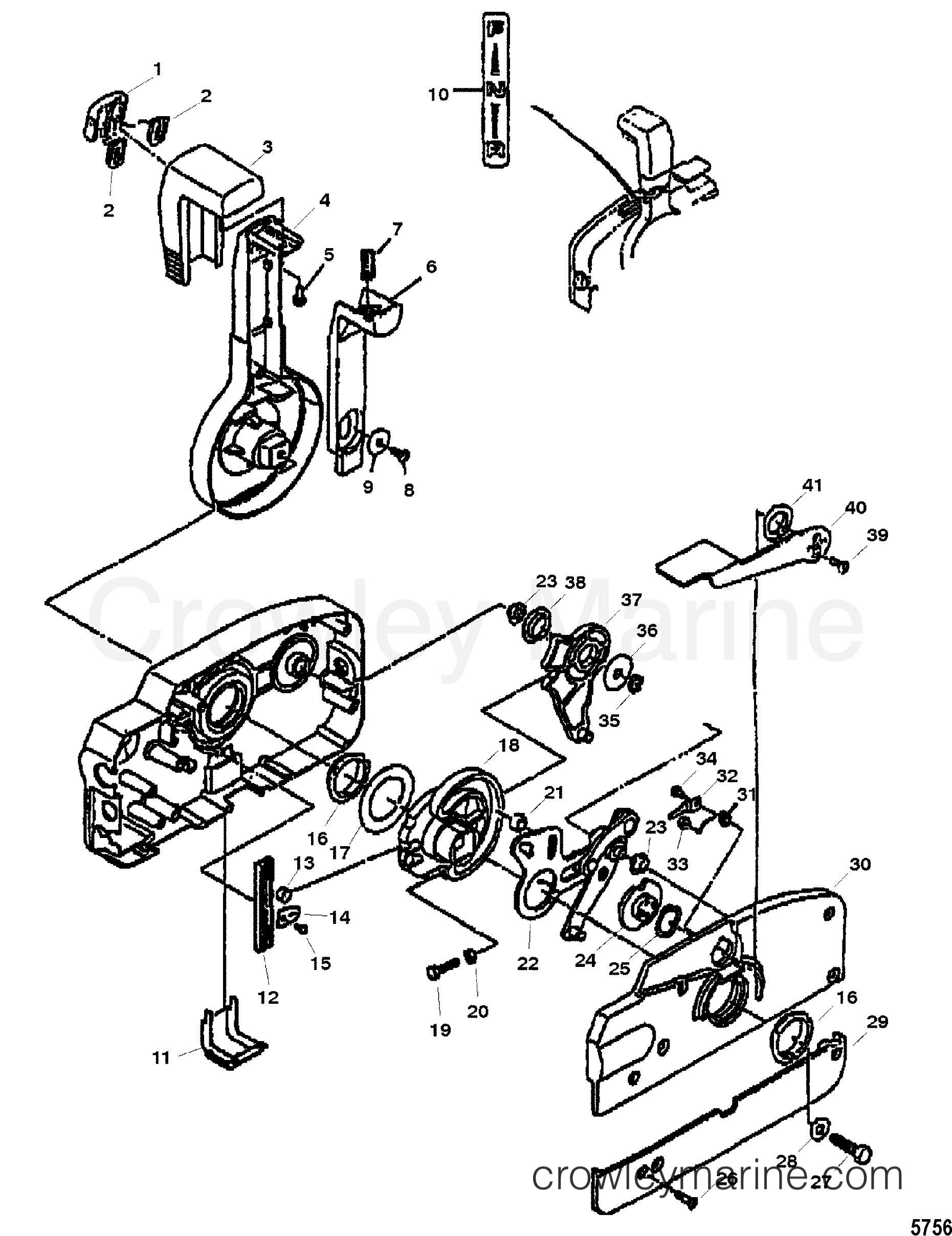 quicksilver-throttle-control-parts-diagram-10 Quicksilver Throttle Wiring Diagram on