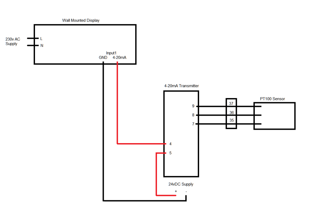 Rtd Pt100 3 Wire Wiring Diagram