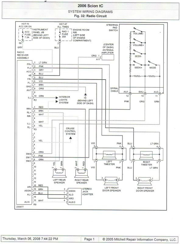 Scion T1818 Wiring Diagram