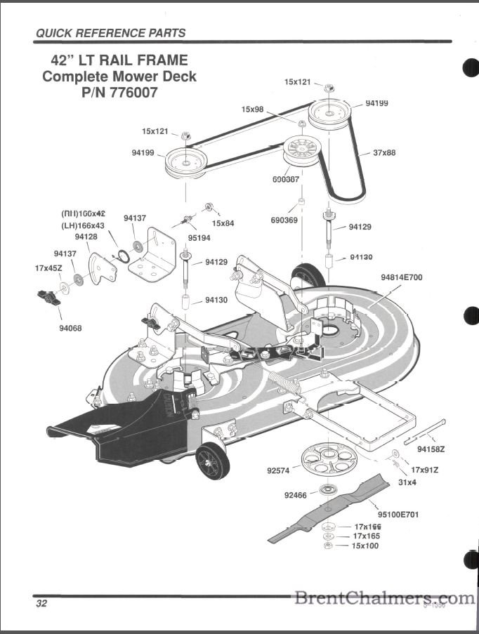 Scotts Riding Mower Belt Diagram 42 Inch