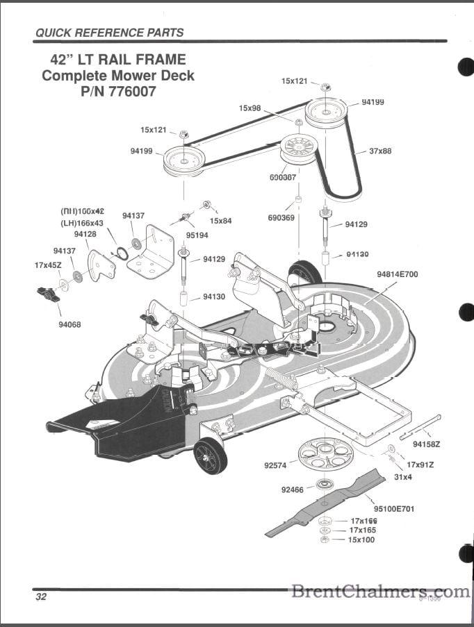 Scotts Riding Mower Belt Diagram 42 Inch