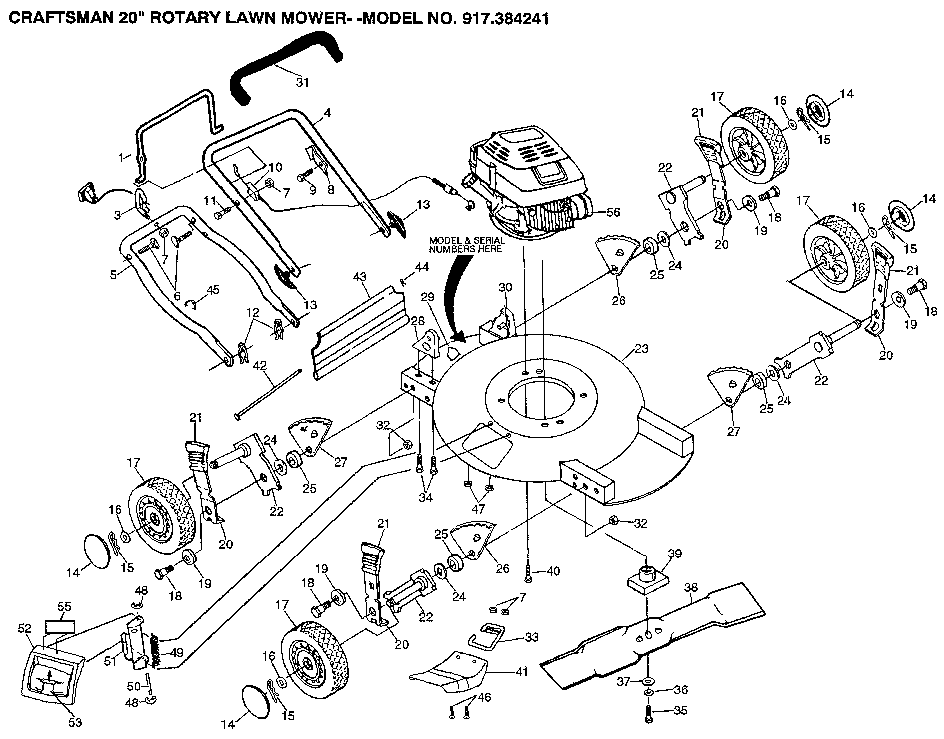 sears lawn tractor model 917 28856 wiring diagram
