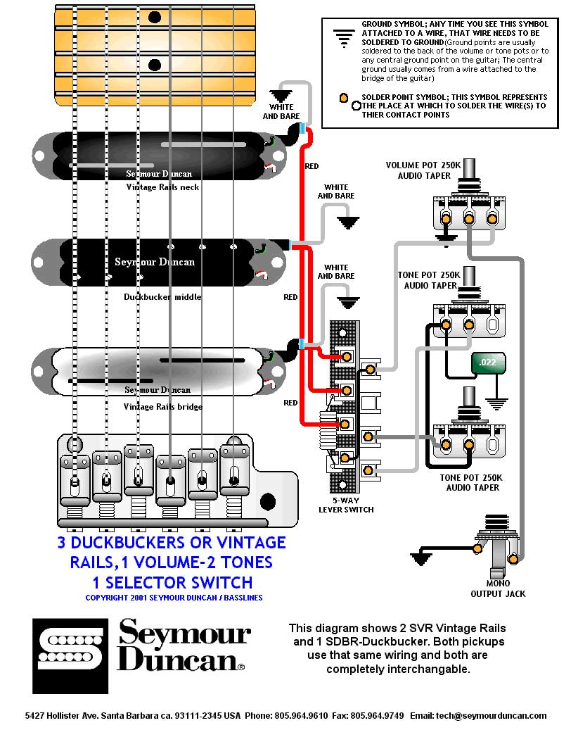 Seymour Duncan Wiring Diagrams 59 And Jb