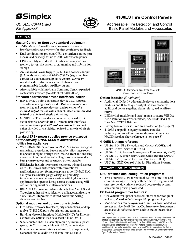 Simplex 4100 Wiring Diagram from wiringall.com